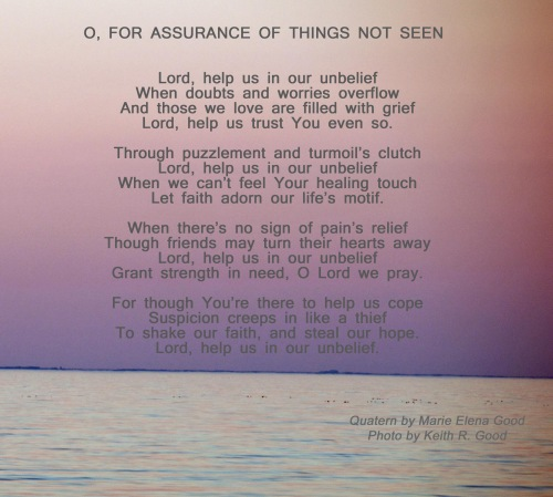 O for assurance of things not seen