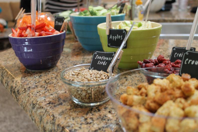 Healthy Lunch Tips + Ideas - The Gypsy Dietitian  Salad Bar Luncheon Ideas